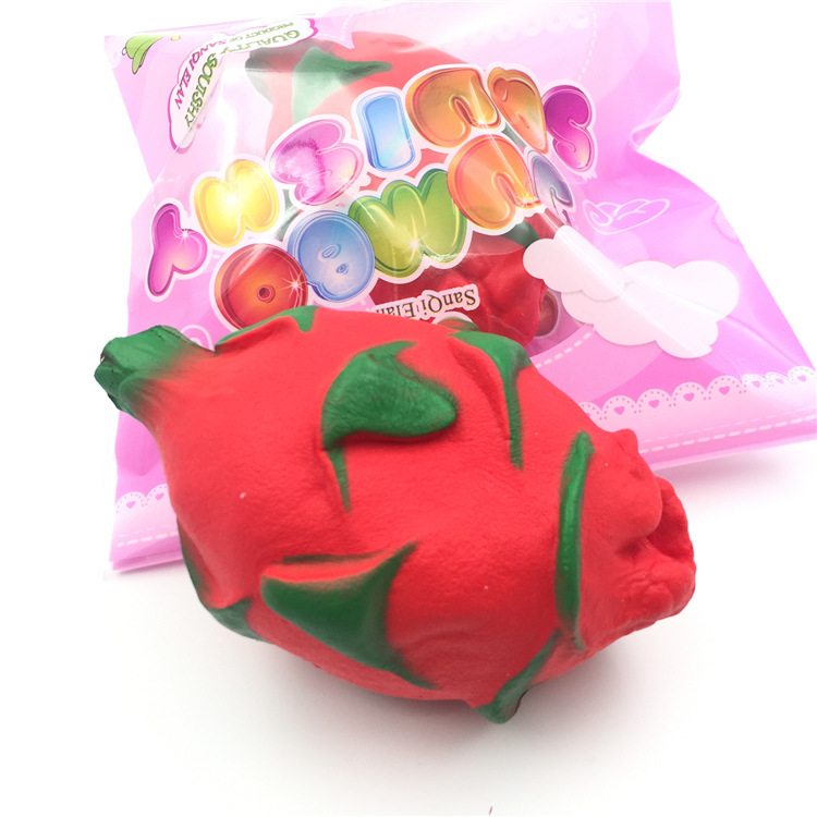 High Quality Soft Slow Rising Scented Stress Squishy Toys Jumbo Pitaya Squishy Dragon fruit