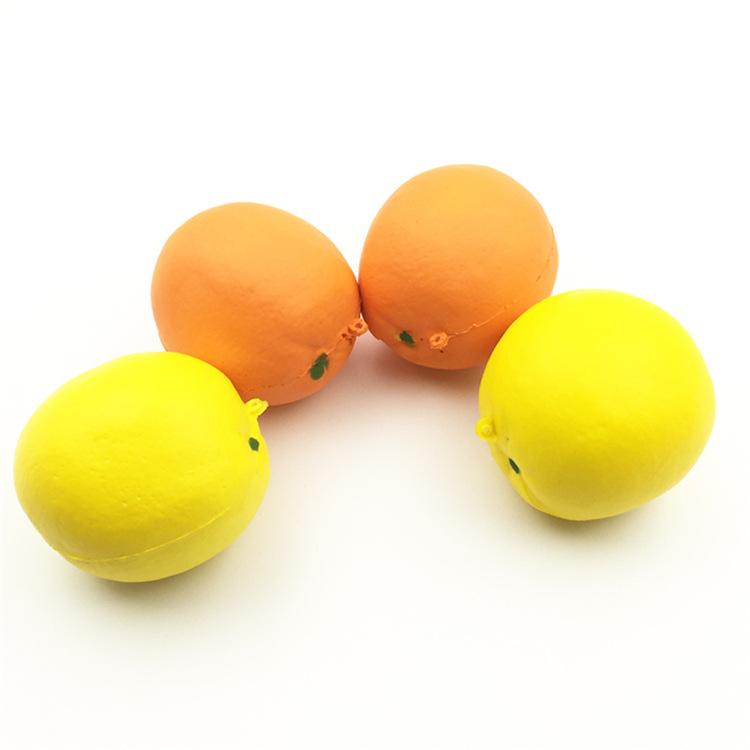 High Quality Soft Slow Rising Keychain Kids Mini Lemon Fruit Squishy Toys