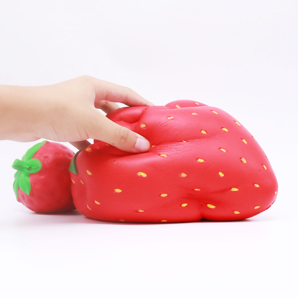 FL-NA Oversized strawberry Squishy PU Slow Rising Squishies Toy