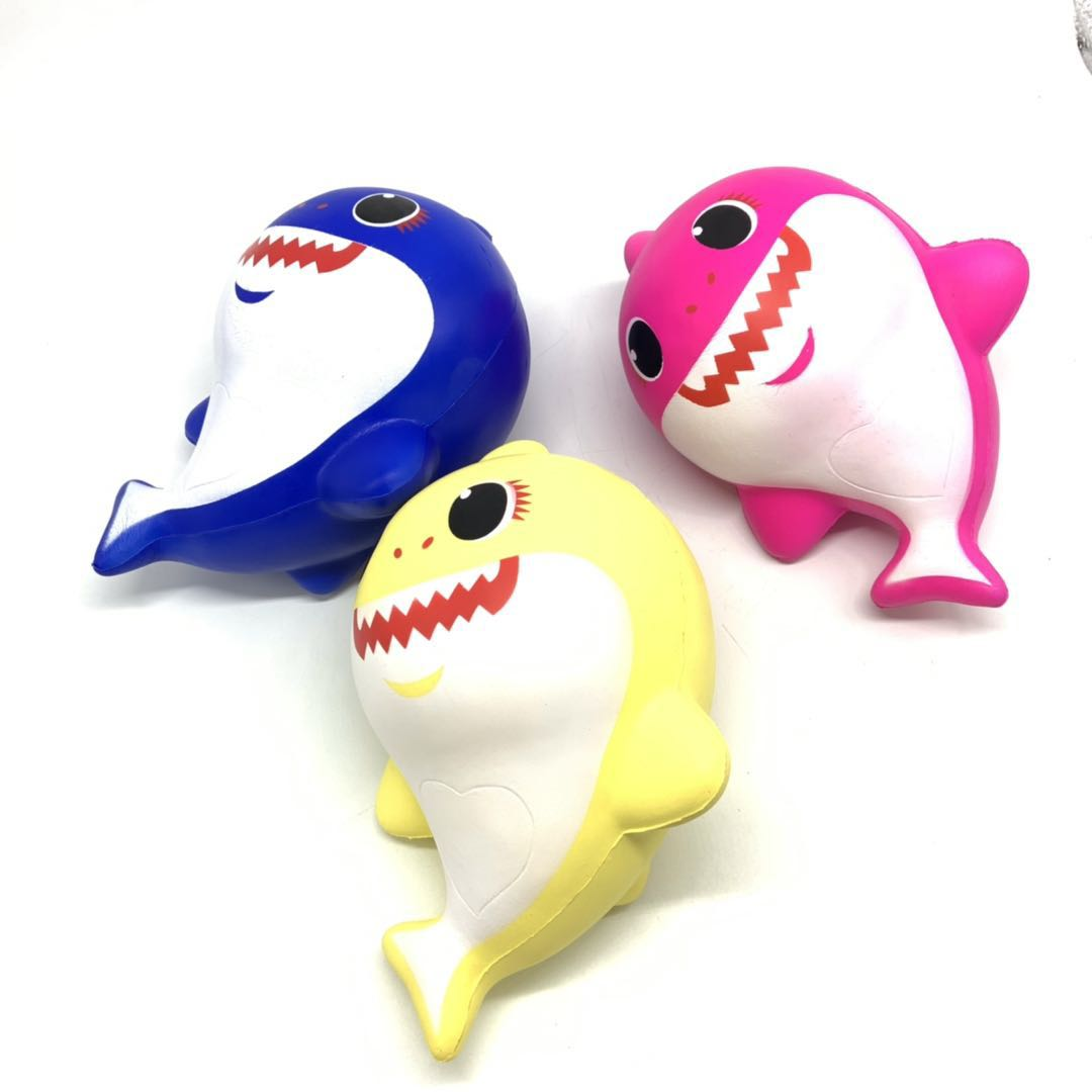 12inch Giant Jumbo Slow Rising Squishy PU Foam Baby Shark Squishies